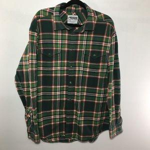 Mountain khakis men's XXL green plaid flannel.